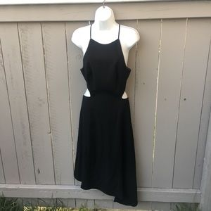Halston Heritage Size 8 Dress Black Asymmetrical